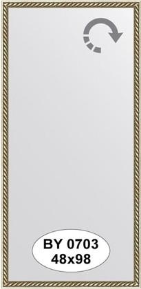 Зеркало 48x98см в багетной раме витая латунь Evoform BY 0703