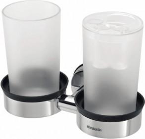 Держатель для 2-х стаканов и зубных щёток, полированная сталь Brabantia 427527