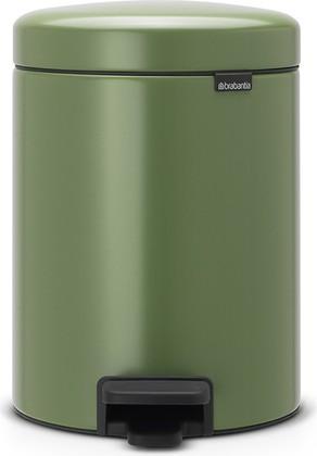 Мусорный бак с педалью 5л, зеленый мох Brabantia Newicon 112447