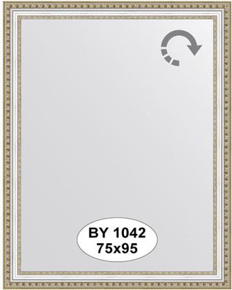Зеркало 75x95см в багетной раме бусы платиновые Evoform BY 1042