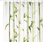 Шторка для ванной Kleine Wolke Bambu May green 180x200см, peva 5249625305