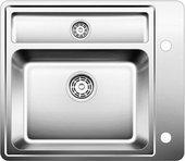Кухонная мойка без крыла, с клапаном-автоматом, с коландером, нержавеющая сталь зеркальной полировки Blanco STATURA 6-U 514265