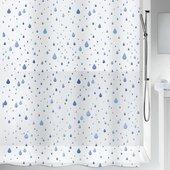 Штора для ванны 180x200см синяя Spirella WATERDROP 1013040