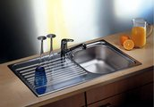 Кухонная мойка оборачиваемая с крылом, нержавеющая сталь матовой полировки Blanco Tipo 45 S 511942