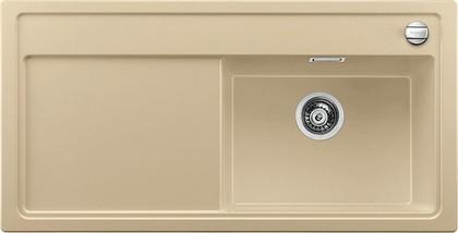 Кухонная мойка чаша справа, крыло слева, с клапаном-автоматом, гранит, шампань Blanco Zenar XL 6 S 519277