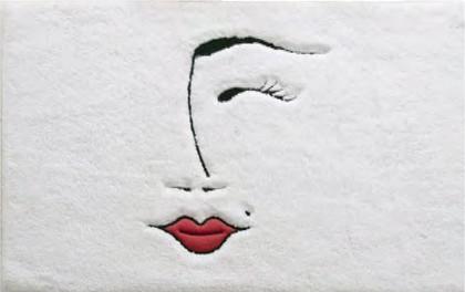 Коврик для ванной комнаты хлопковый 50x80см белый Spirella Lola 4006912