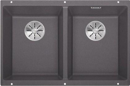 Кухонная мойка Blanco Subline 350/350-U, отводная арматура, тёмная скала 523575
