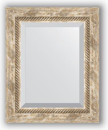 Зеркало с фацетом в багетной раме 43x53см прованс с плетением 70мм Evoform BY 3355