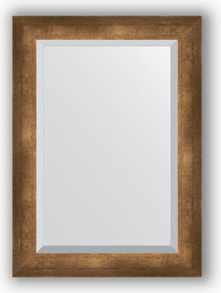 Зеркало 52x72см с фацетом 30мм в багетной раме старая бронза Evoform BY 1128