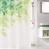 Шторка для ванной Kleine Wolke Floresta, 180x200см, полиэстер, зелёный 5912600305