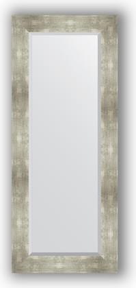 Зеркало 56x136см с фацетом 30мм в багетной раме алюминий Evoform BY 1160