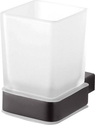 Стакан для зубных щёток Bemeta Nero, настенный, чёрный 135011010