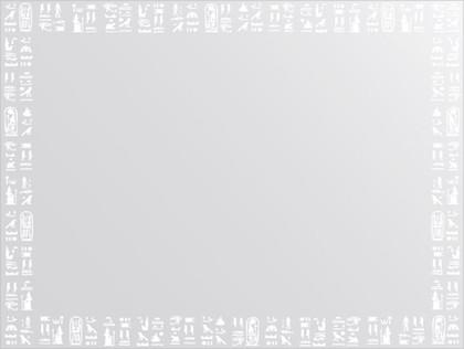 Зеркало для ванной с орнаментом 80x60см FBS CZ 0754