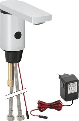 Антивандальный электронный смеситель тип 86 для умывальника, с внутренней регулировкой температуры, 12В / 230В Geberit 116.146.21.1