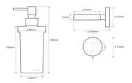 Дозатор для жидкого мыла Bemeta Neo, стекло, настенный, матовая сталь 104109016