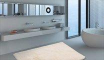 Коврик для ванной 60x100см кремовый Grund Calo 2623.16.7151