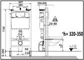 Унитаз с инсталляцией Roca Meridian Pack с сиденьем, клавишей 893104110