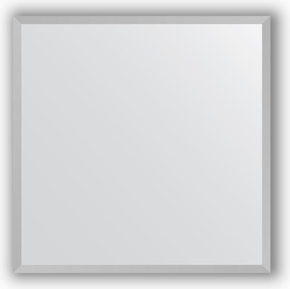 Зеркало в багетной раме 56x56см хром 18мм Evoform BY 3129