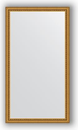 Зеркало 62x112см в багетной раме бусы золотые Evoform BY 1082
