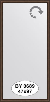 Зеркало 47x97см в багетной раме орех Evoform BY 0689