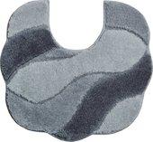 Коврик для туалета Grund Carmen, 55x50см, полиакрил, серый b2048-044115