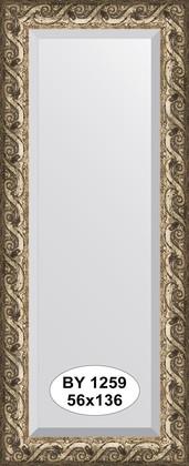 Зеркало 56x136см с фацетом 30мм в багетной раме фреска Evoform BY 1259