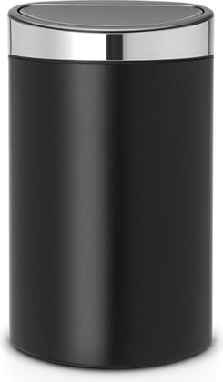 Ведро для мусора 40л, чёрный матовый Brabantia Touch Bin 114847