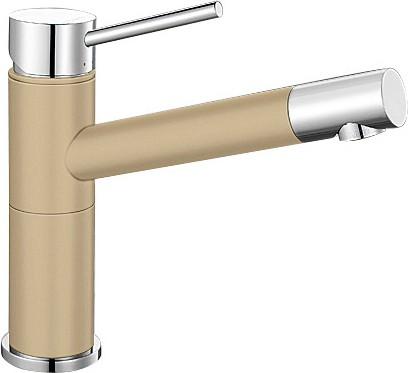 Небольшой кухонный однорычажный смеситель, хром / шампань Blanco ALTA Compact 515319