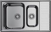 Кухонная мойка Omoikiri Sagami 79-2-IN, две чаши, оборачиваемая, нержавеющая сталь 4993733