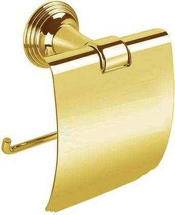 Держатель для туалетной бумаги Colombo Hermitage, с крышкой, золото B3391.HPS