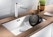 Кухонная мойка Blanco Subline 700-U Level, отводная арматура, шампань 523544