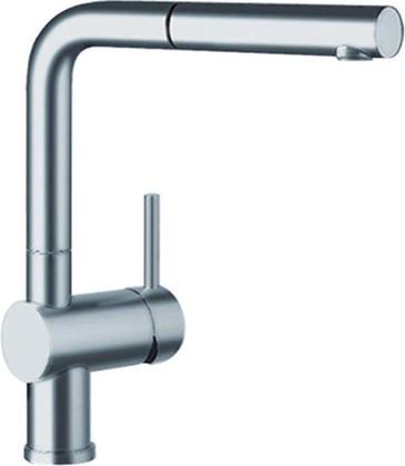 Смеситель кухонный однорычажный с высоким выдвижным изливом, рычаг управления справа, нержавеющая сталь полированная Blanco LINUS-S 517184