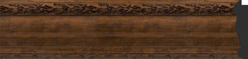 Зеркало с фацетом в багетной раме 52x62см состаренная бронза с орнаментом 120мм Evoform BY 3377