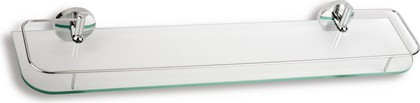 Полка для ванной с закруглёнными углами и с ограждением 7х13х60см Novaservis 6176.0