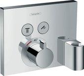Термостат для душа Hansgrohe Select Select на 2 потребителя со шланговым подсоединением, внешняя часть, хром 15765000