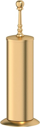 Туалетный ёршик 3SC Stilmar напольный, фарфор, матовое золото STI 330