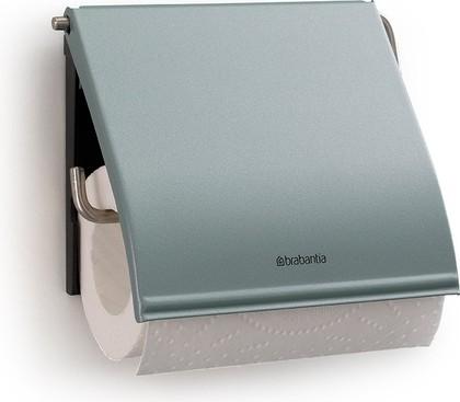 Держатель с крышкой для туалетной бумаги, мятный металлик Brabantia 107924