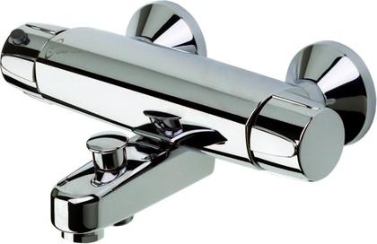 Смеситель для ванны и душа с термостатом, подключение горячей воды справа, хром Oras NOVA 7442X