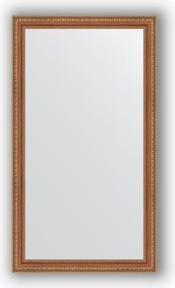 Зеркало в багетной раме 65x115см бронзовые бусы на дереве 60мм Evoform BY 3203