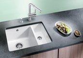 Кухонная мойка без крыла, с клапаном-автоматом, керамика, жасмин Blanco Subline 350/150-U PuraPlus 514527