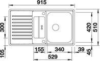 BLANCO CLASSIC PRO 5 S-IF Схема с размерами вид сверху
