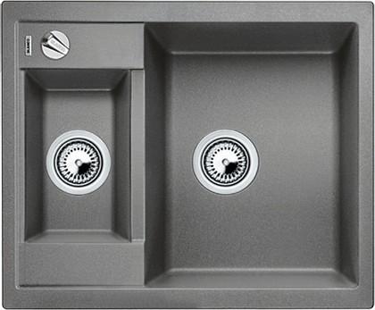 Кухонная мойка оборачиваемая без крыла, с клапаном-автоматом, гранит, алюметаллик Blanco Metra 6-F 519135