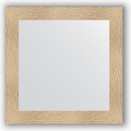 Зеркало в багетной раме 80x80см золотые дюны 90мм Evoform BY 3245