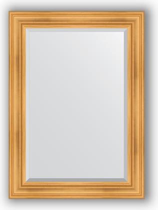 Зеркало с фацетом в багетной раме 79x109см травленое золото 99мм Evoform BY 3470