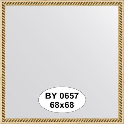 Зеркало 68x68см в багетной раме витое золото Evoform BY 0657