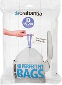 Мешки для мусора Brabantia 15-20л, размер D, 40шт 362187