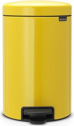 Мусорный бак с педалью 12л, желтая маргаритка Brabantia Newicon 113567