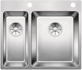 Кухонная мойка Blanco Andano 340/180-IF/A, клапан-автомат, отводная арматура, полированная сталь 522996