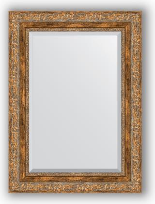 Зеркало с фацетом в багетной раме 55x75см виньетка античная бронза 85мм Evoform BY 3384