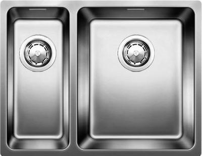 Кухонная мойка без крыла, основная чаша справа, с клапаном-автоматом, нержавеющая сталь зеркальной полировки Blanco ANDANO 340/180-U 518318